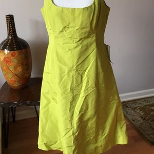 JCrew special occasion sleeveless silk dress.
